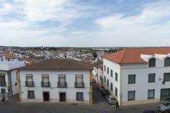 Ansicht der Stadt von Evora von oben Stockfotos