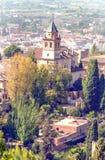 Ansicht der Stadt von Granada Stockfotos
