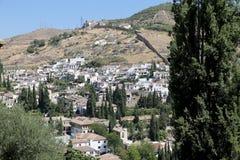 Ansicht der Stadt von Granada, Andalusien, Spanien Lizenzfreies Stockfoto