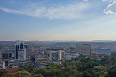 Ansicht der Stadt von Kampala Stockbilder