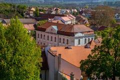 Ansicht der Stadt von Mikulov lizenzfreies stockfoto