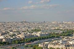 Ansicht der Stadt von Paris vom Eiffelturm lizenzfreies stockbild