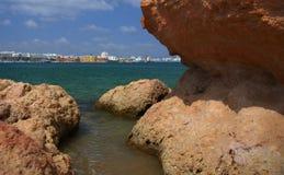 Ansicht der Stadt von Portimao, Portugal Lizenzfreie Stockbilder