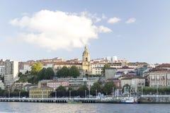 Ansicht der Stadt von Portugalete Lizenzfreie Stockfotos