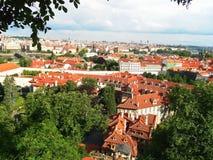 Ansicht der Stadt von Prag Lizenzfreie Stockfotos