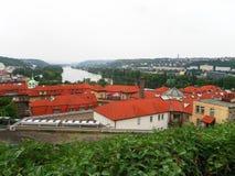 Ansicht der Stadt von Prag Stockfotos