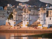 Ansicht der Stadt von Pushkar stockbilder