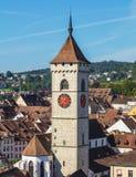 Ansicht der Stadt von Schaffhausen am Ende des Sommers Lizenzfreie Stockbilder
