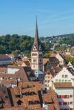 Ansicht der Stadt von Schaffhausen am Ende des Sommers Lizenzfreies Stockbild