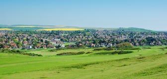 Ansicht der Stadt von Seaford, England Lizenzfreie Stockfotos