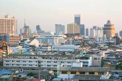 Ansicht der Stadt von Wat Saket Tempel Stockfotografie