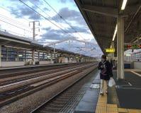 Ansicht der Station in Himeji, Japan Stockfotos