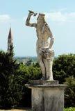 Ansicht der Statue im Garten des Landhauses Barbaro, Italien Lizenzfreies Stockfoto
