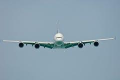 Ansicht der Stirnseiten-A380 stockfotografie