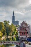 Ansicht der Straßburg-Kathedrale lizenzfreies stockfoto