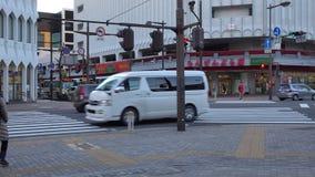 Ansicht der Straße in Nagano, Japan stock video footage