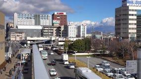 Ansicht der Straße in Nagano, Japan stock footage