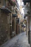 Ansicht der Straßen von Cefalu stockbild