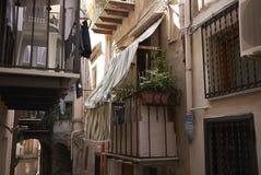 Ansicht der Straßen von Cefalu lizenzfreie stockfotografie