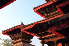 Ansicht der Tempel in Katmandu Stockbilder