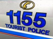 Ansicht der touristischen Polizei in Bangkok Stockfoto