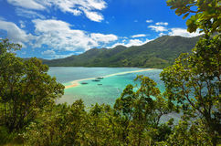 Ansicht der Tropeninsel mit Schlangen-Insel. EL Nido, Philippi Stockfoto