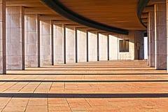 Ansicht der Tunnelarchitektur Stockfotografie