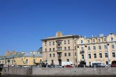 Ansicht der Ufergegendgebäude stockfoto