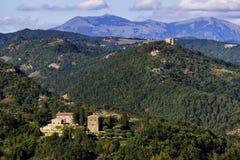 Ansicht der umbrian Hügel Stockfotografie