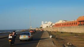 Ansicht der ummauerten Stadt, die das karibische Meer im Stadt ofCartagena übersieht Lizenzfreie Stockfotografie
