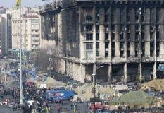 Ansicht der Unabhängigkeit Maidan Lizenzfreies Stockbild
