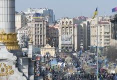 Ansicht der Unabhängigkeit Maidan Lizenzfreie Stockbilder
