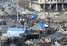 Ansicht der Unabhängigkeit Maidan Stockfotografie