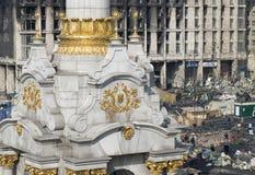 Ansicht der Unabhängigkeit Maidan Lizenzfreie Stockfotos