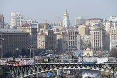 Ansicht der Unabhängigkeit Majdan Lizenzfreies Stockbild