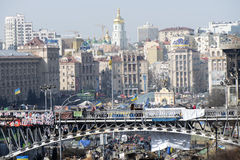 Ansicht der Unabhängigkeit Majdan Stockfoto