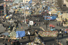 Ansicht der Unabhängigkeit Majdan Stockfotografie