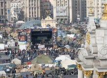 Ansicht der Unabhängigkeit Majdan Stockbild