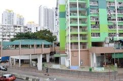 Ansicht der unterschiedlichen Generation des Sozialwohnungs-Gebäudes in Hong Kong Lizenzfreie Stockfotografie