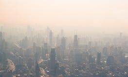 Ansicht der Verschmutzung in Shanghai Stockbild