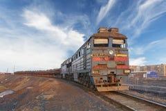 Ansicht der vorderen Lokomotive stockfoto
