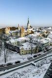 Ansicht der Wälle und der Kathedrale von St. Olaf Stockfotos