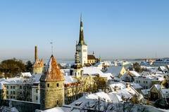 Ansicht der Wälle und der Kathedrale von St. Olaf Lizenzfreies Stockbild