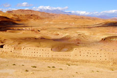 Ansicht der Wüste, Ait Ben Haddou, Marokko Lizenzfreie Stockfotos