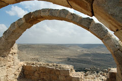 Ansicht der Wüste von altem bleibt Stockfoto