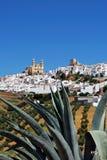 Weiße Stadt, Olvera, Andalusien, Spanien. Lizenzfreies Stockfoto