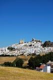 Weiße Stadt, Olvera, Andalusien, Spanien. Stockfotos