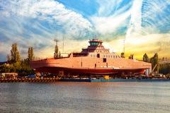 Ansicht der Werft stockfotografie