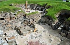 Ansicht der Werkstatt, in einem prähistorischen Dorf. Stockbilder