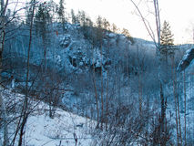 Ansicht der Winterberge vom höchsten tschechischen Berg - Snezka Stockbild